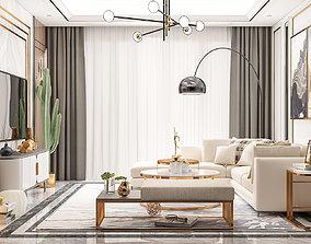 bed 3D model Living Room