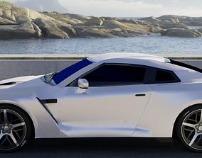 3D asset game-ready Nissan GTR