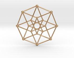 3D printable model Hypercube Star Pendant
