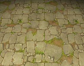 ground stone grass tile 25 3D