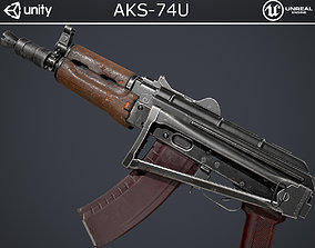 3D model rigged AKS-74U