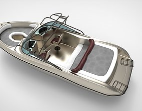 3D model Speed boat aluminium
