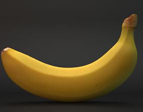 Realistic Banana 3D model -Low- High-