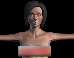 Naked Girl 3D model animated