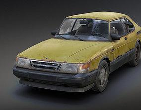 Saab 900 Turbo Rusty 3D model