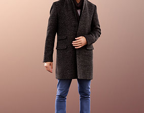 3D model 11382 Jason - Smiling Man in Coat with Scarf