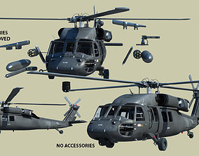 3D army UH 60 black hawk helicopter