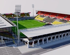 3D model game-ready Stadium 1 fictional
