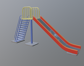 3D asset game-ready Park Slide