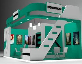 Exhibition Stall 3D model low-poly