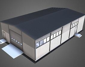 Industrial Hangar for winter 3D model