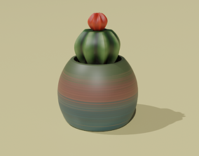 3D Printable Succulent in Pot