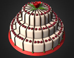 3D asset Delicious Raspberry Cake