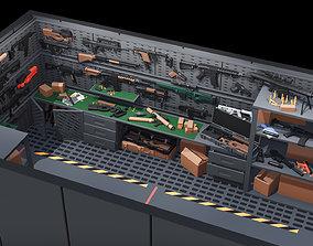 3D model Poligonal Weapon Rack