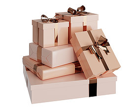Presents And Gift Boxes1 BLENDER 3D Model Cycles