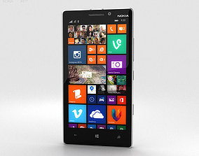 3D Nokia Lumia 930 White