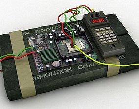 3D model Time bomb explosive