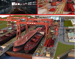 shipbuilding Shipyard 3D
