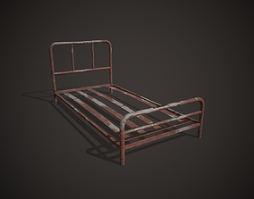 Rusty Bed 3D asset low-poly
