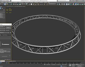 3D print model Circle Triangular Truss Full diameter 400cm