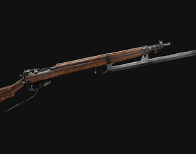 Lee Enfield Rifle 3D asset