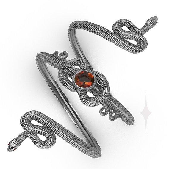 Snake bracelet 3d printable