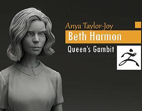 3D printable model Anya Taylor-Joy - Beth Harmon - Queen s