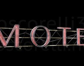 3D model Rooftop Neon Motel Sign