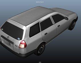 3D asset car Lowpolygon