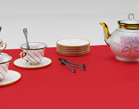 A tea set 3D model