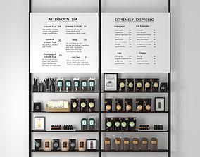 3D model coffee tea stand