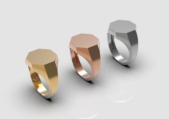 Octagonal ring