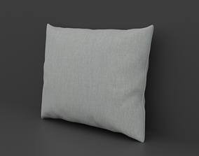 White Frabic Pillow 3D