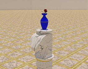 The Iconic Horse Table With Flower Vase 3D