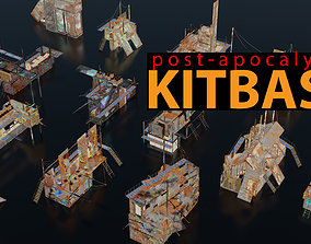 3D asset Post-Apocalyptic Kitbash Shipping Container 2