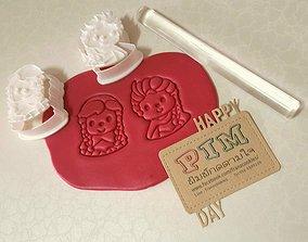 3D print model Lovely Forzen Anna And Elsa cookie cutter 1