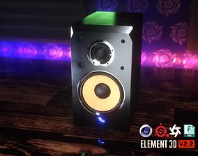 Bookshelf Studio Monitor Speakers 3D model