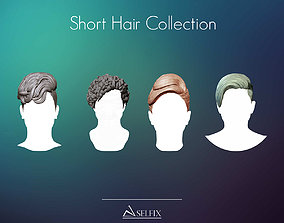 Short Hairstyle Collection 3D model