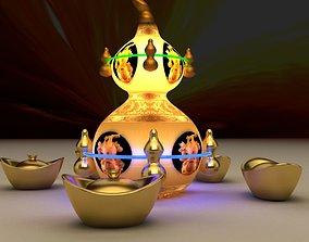 3D Chijese gold ingot