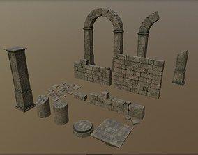 3D model Ancient Ruins Asset Pack