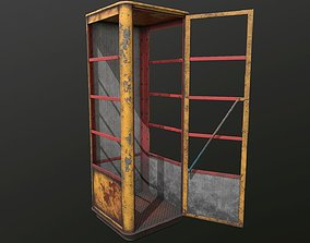 3D asset Old Soviet telephone booth