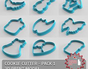 Cookie cutter - pack 1 cake 3D