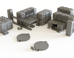 Sci fi Colony Modules Collection for 3D printable model 1