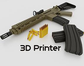 M416 weapon 3D printable model