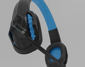 3D model pair of gaming headphones