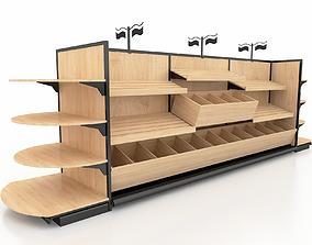 aisle Shelf 3D model 7