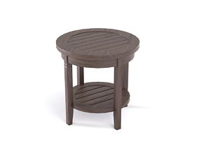 Wooden Side Table 3D model game-ready