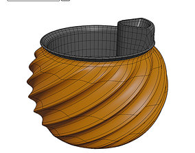 Self Watering Planter STL File for 3D