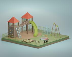 Playground 3D asset VR / AR ready