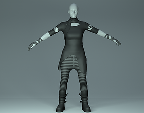 Futuristic Rave Outfit 3D model